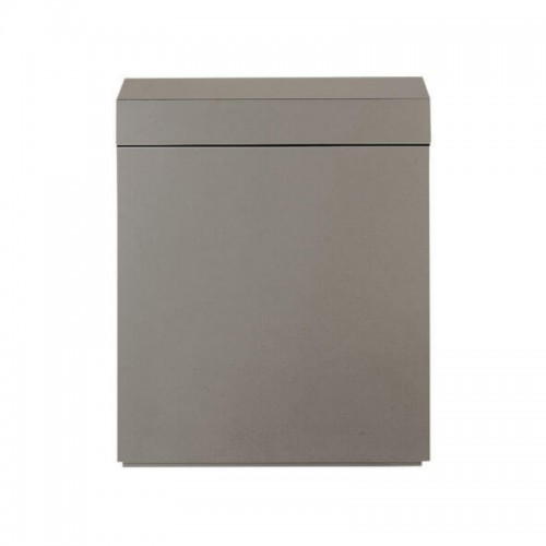 Wood Cabinet 45 Metallic Silver