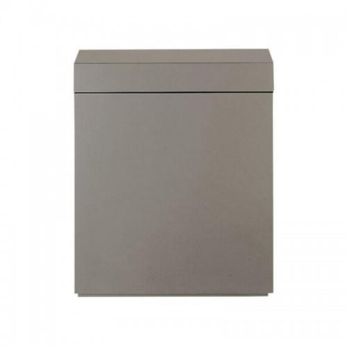 Wood Cabinet 75 Metallic Silver