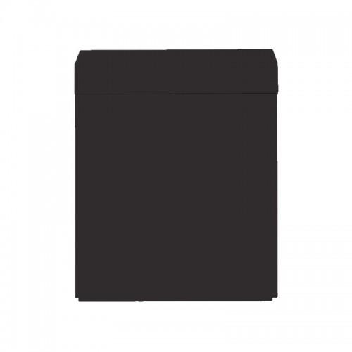 Wood Cabinet 75 Black