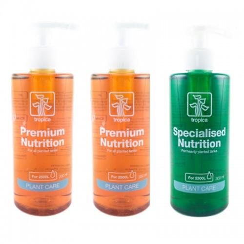 Pack 2 fertilizantes PLANT GROWTH PREMIUM e 1 PLANT GROWTH SPECIALIZED
